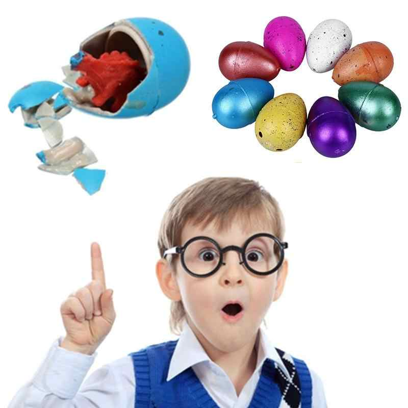 12Pcs Magic Hatching Growing Dinosaur Eggs Toy Add Water Grow Dino Egg Novelty Gag Children Toys Kids Educational Gifts