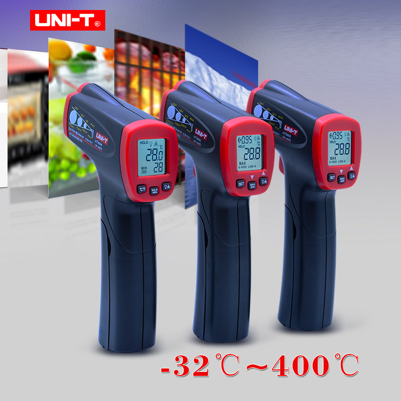 UNI-T UT300A/300C/300S Non Contact Laser Infrared Digital Ir Thermometer Gun LCD display Temperature Measuring Degree Tester uni t ut300s non contact infrared thermometer digital ir thermometer handheld lcd temperature laser gun