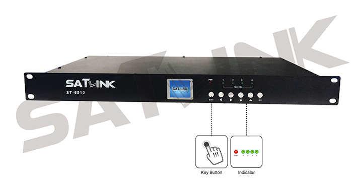 Satlink ST-6510 4 チャンネル DVB-T 変調器 HD 1080P MPEG4 1 周波数に 4 チャンネルテスト送料 Iptv アカウント subcription m3u cccam