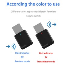 Portable Mini Audio Adapter 2 in 1 Bluetooth 5.0 Transmitter