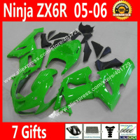 Brand new Fairings for Motorcycle Kawasaki Ninja ZX 6R 636 2005 2006 ZX 6R ZX6R 05 06 glossy green fairing kits NEW HOT FR41