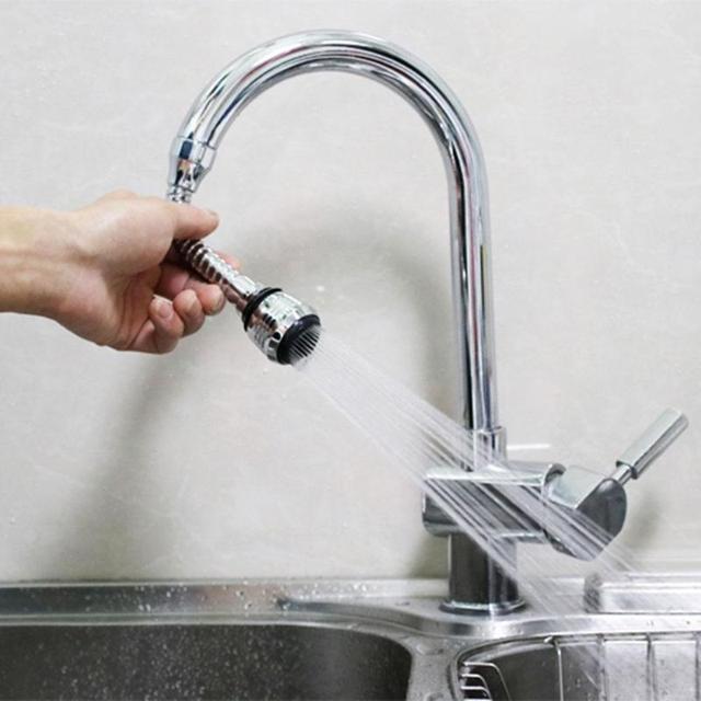 キッチンシンク蛇口スプレー節水エアレーター 360 度回転可能なバブラーフィルター送料に曲げノズルフレキシブルなタップエアレーター