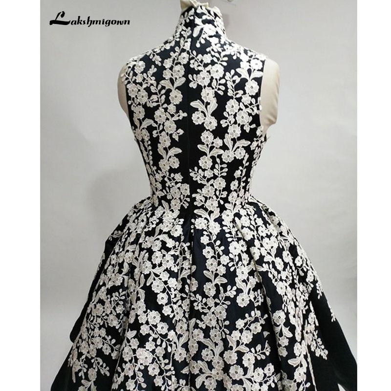 Högsta halsen Svart Aftonklänning Bollfärge Ärmlös Satin - Särskilda tillfällen klänningar - Foto 5