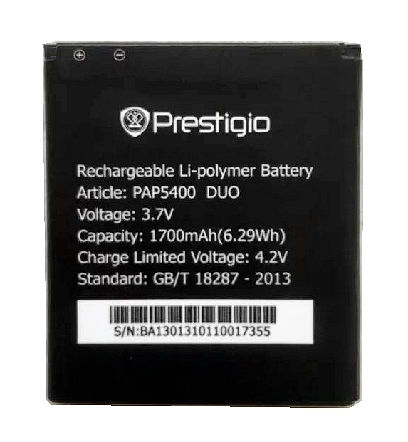 PAP5400 High Quality Mobile Phone Replacement Li ion Battery for Prestigio PAP5400 in Mobile Phone Batteries from Cellphones Telecommunications