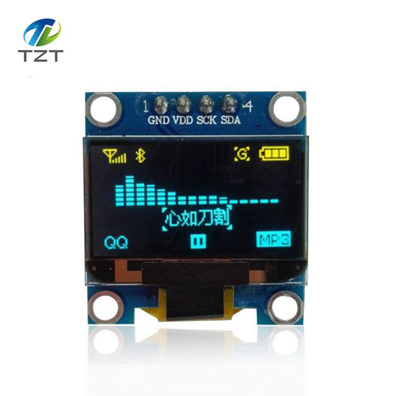 0.96 inch IIC Serial Yellow Blue OLED Display Module 128X64 I2C SSD1306 12864 LCD Screen Board GND VCC SCL SDA 0.96 for Arduino0.96 inch IIC Serial Yellow Blue OLED Display Module 128X64 I2C SSD1306 12864 LCD Screen Board GND VCC SCL SDA 0.96 for Arduino