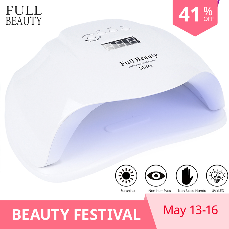 54W Nail Dryer Nail Lamp UV Led Lamp For manicure 36 LEDs LCD Display Infrared Sensor Curing For All Gels Polish Tool CHSUNX