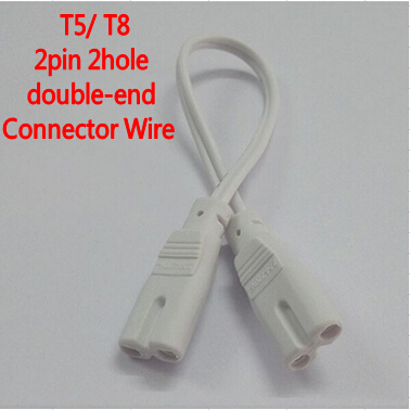 10pcs 2pin 300mm <font><b>T4</b></font> T5 LED <font><b>Tube</b></font> Connector Cable Wire Double-end For <font><b>T4</b></font> T5 T8 Led Lamp Lighting Connecting image