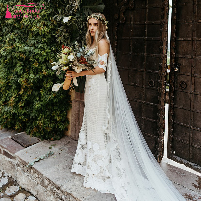 Spanish Wedding Dresses: Vintage Spanish Wedding Dresses Mermaid Elegant Romantic