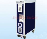 RY SQA (1) Stainless steel 4 wheel mobile plane hotel dining car hand pushing insulation dining car food warmer cart