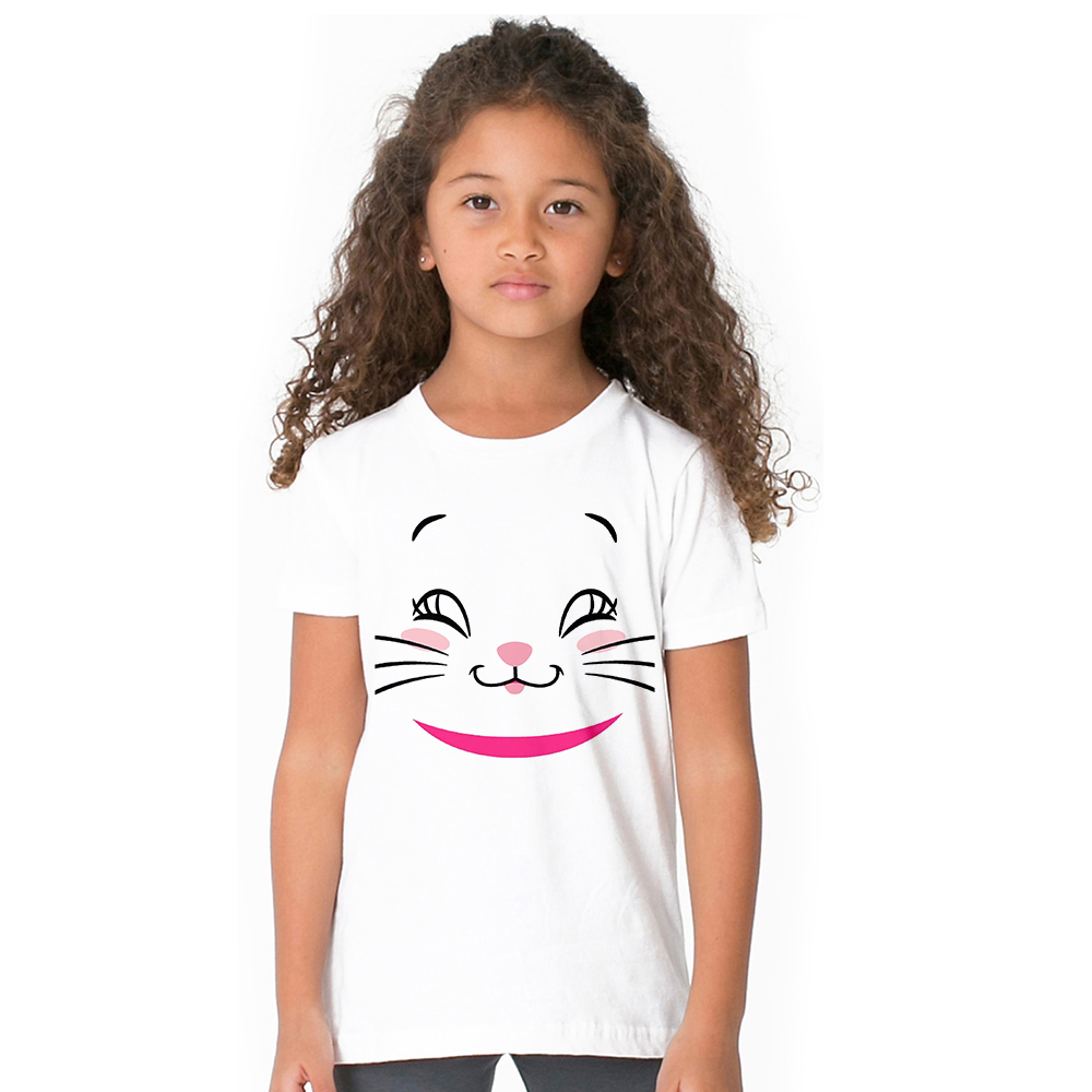 Aristocats Kids Girl T Shirt Marie Cat Baby Summer T-shirt Children Cute Pink Pattern Tshirt Toddler Girls Cartoon Tops Tees женская футболка other 2015 3d loose batwing harajuku tshirt t a50