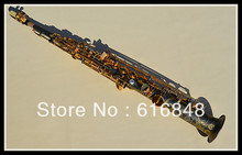 Wholesale B the soprano straight saxophone Henry Reference 54 black grinding placer gold key