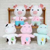 Feather cotton tang suit pig doll cow doll plush toy for girl boy gift