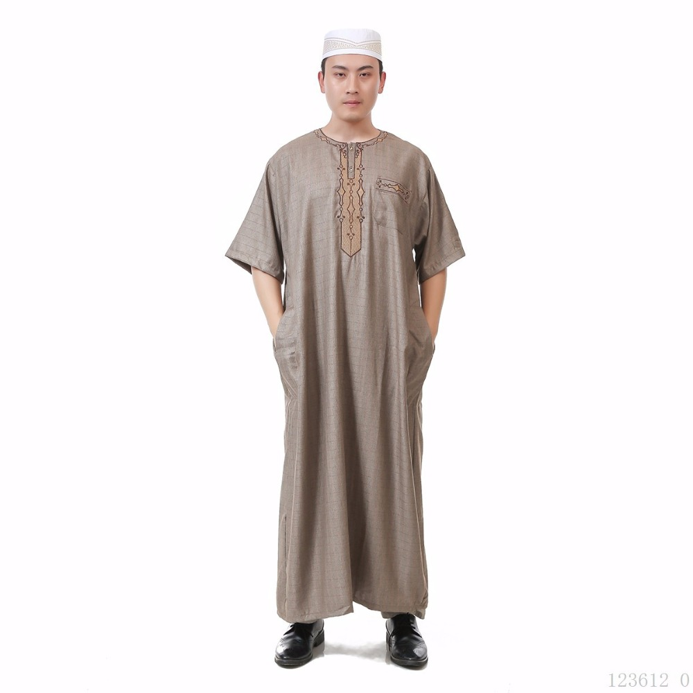 Arab Muslim Clothing for Men The Middle East Arab Male People Dress Thobe Arabic Islamic Abayas Dress Indian Mens Kaftan Robe