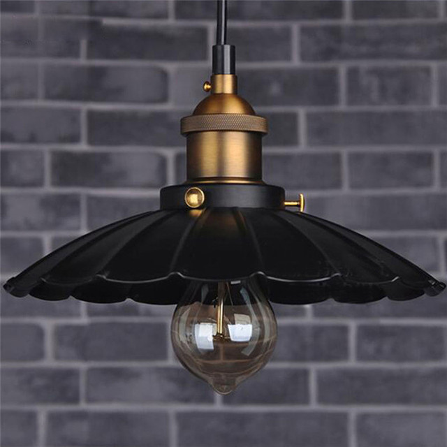 Nordic American country style chandeliers retro nostalgia LOFT Restaurant Cafe bronze chandelier E27 with 40W Bulb  AC110-220V