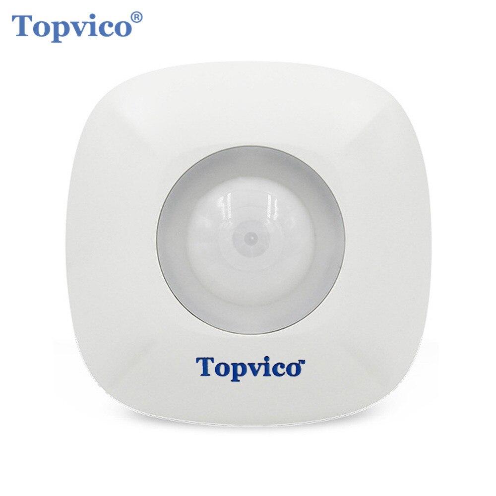 Topvico Z-vague Détecteur de Mouvement Capteur D'alarme Zwave Z vague Sans Fil Infrarouge Motion Sensor Smart Domotique Systèmes de Sécurité