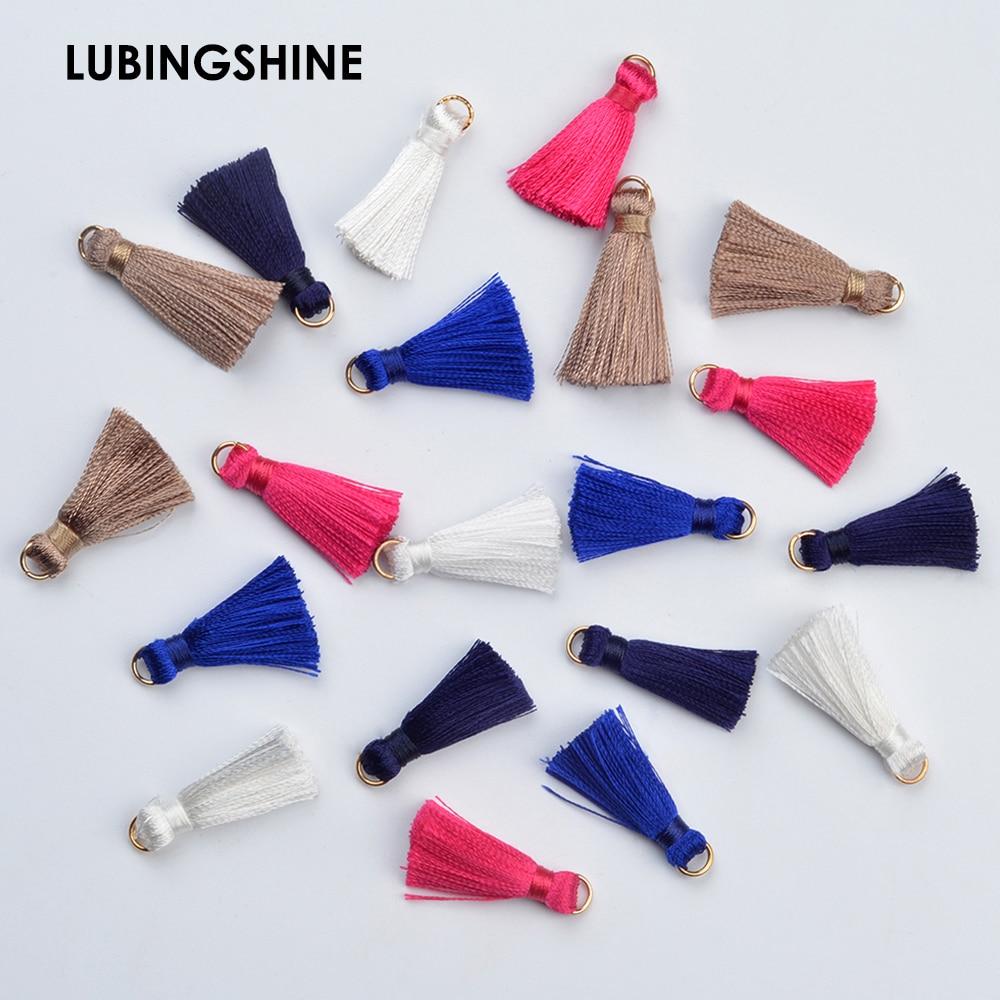 10pcs/lot Mixed Cotton Silk Tassel For Earrings Charm Pendant Satin Tassel DIY Jewelry Making Findings Material