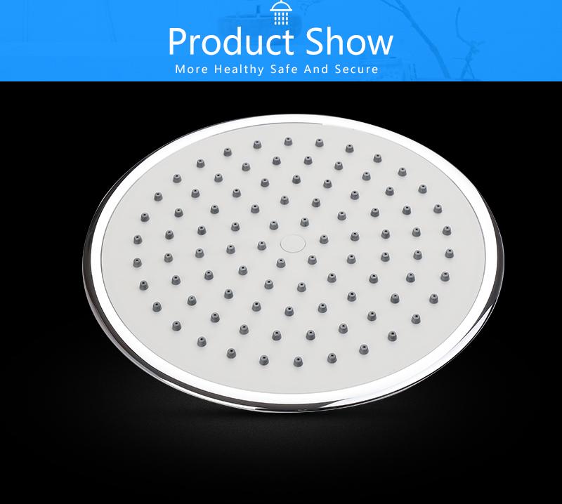 UFO Shower Head Showerhead Body Sprays Shower Head Round 8 Inch Ultra-Thin 2mm Bathroom Rain Shower Heads (12)