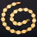 Chains Coin Necklaces Jewelry Money Symbol Queen Head gold Plated Platinum Plated Classic Elegant For Women Ladies N209