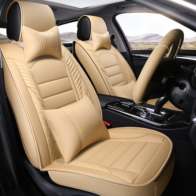Leather Car Seat Cover Universal auto Interior Accessories for ford ranger s max c max galaxy