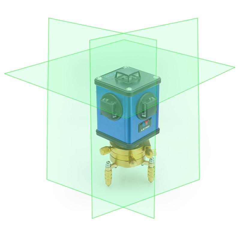 LETER 12 зеленый настенный инструмент 3D зеленый лазерный уровень свет Высокоточный LD Электронный выравнивания литиевых