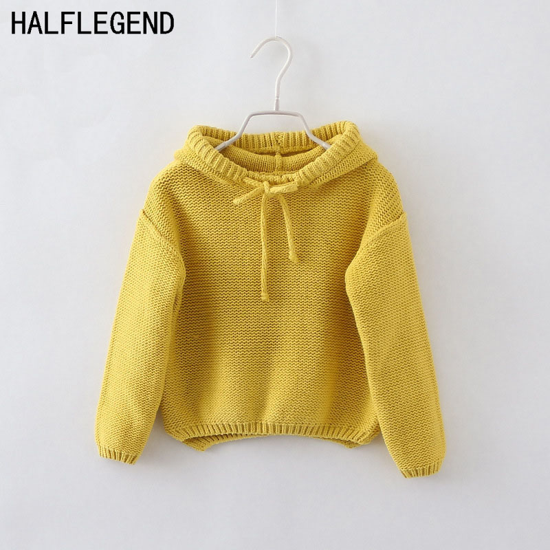 цены на New 2015 Girls Sweaters Children's Hooded pullover sweater Boys pullover baby girls Autumn&winter clothes Kids coat for 2-8Ages