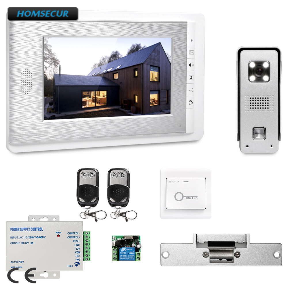 HOMSECUR 7inch Wired Video Door Entry Phone Call System Electric Strike Lock Set Included : XC002+XM708-S nova tunes 1 9