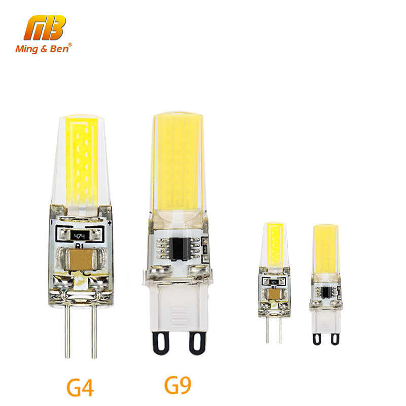 G4 G9 Led Lampada DC 12V AC 220V 3W Led COB Bulb Lamp Dimmable Bombillas Replace Halogen For Spotlight Crystal Chandelier Lights