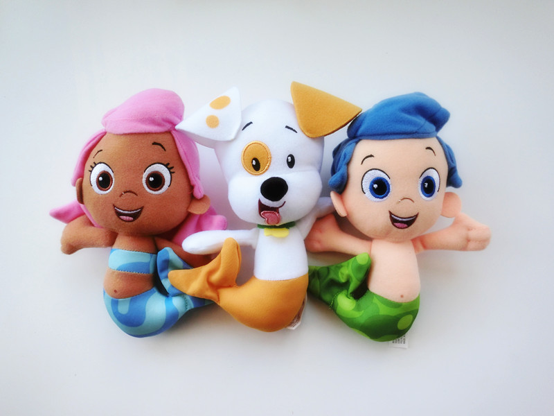 Original Bubble Guppies 7 GIL MOLLY PUPPY 3pcs Plush Toy Doll New