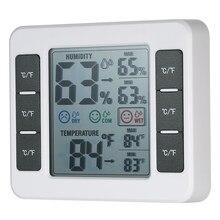Thermomètre et hygromètre d'intérieur numérique LCD, jauge d'humidité et température ambiante, Thermo hygromètre avec affichage de la valeur Max Min