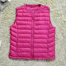 New Winter Women Vest 90% White Duck Down Vest female Slim Short waistcoat Jackets Parka Plus 2XL,T836