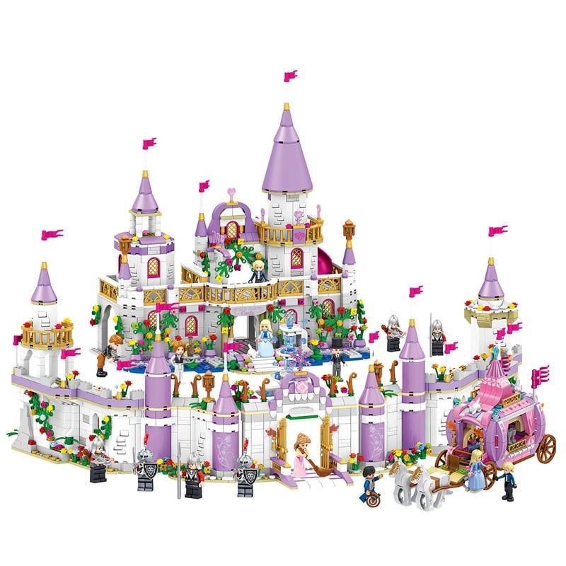 1082pcs Legoings Friends Princess Windsor's Castle And Carriage DIY Model Building Blocks Kit Toys Girl Birthday Christmas Gifts ynynoo 25010 249pcs ariel and magic spell girl princess series model building blocks gifts toys compatible christmas gift