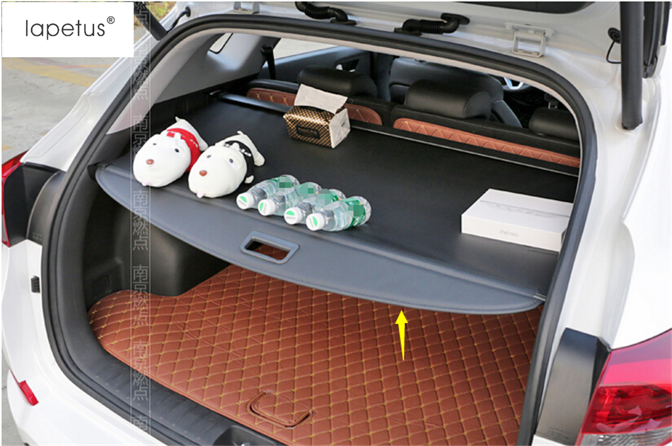 Accessoires Lapetus pour Hyundai Tucson 2016 2017 2018 arrière coffre de sécurité ombre bouclier de Protection de cargaison Kit de couverture de moulage