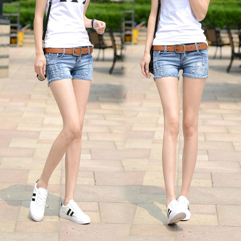high quality fashion shorts women vintage denim shorts low