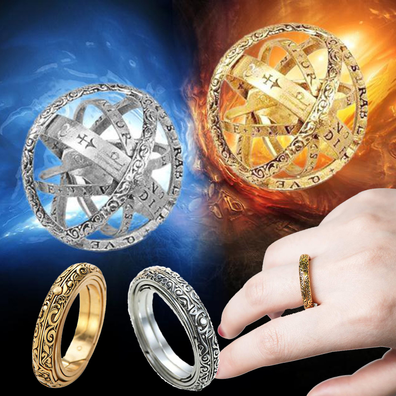 Attaullah Astronomical Ring Sphere Ball Rotating Cosmic Finger Rings for  Couple Woman and Man Lover Pendant Jewelry Gift RW032 - Buy cheap in an  online store with delivery: price comparison, specifications, photos