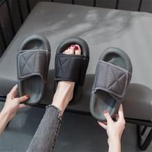 Женские тапочки; пара пляжных парусиновых тапочек; женские повседневные Вьетнамки с широкими носками; цвет черный, серый; женская обувь