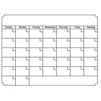 New Arrival Magnetic Calendar Message Board Erasable Month Day Planner Removable DIY Sticker Office & School Supplies