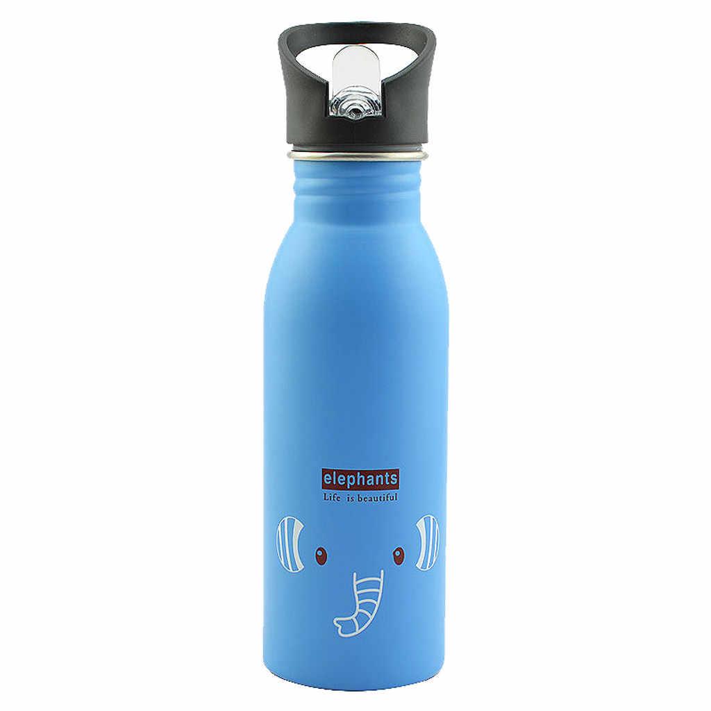 Taza de acero inoxidable portátil con bonito diseño de Animal botella para deporte al exterior viaje Camping botella de agua fría niños botella de agua Y1