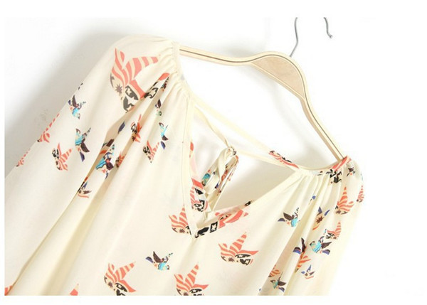 Plus Size Blusas Femininas Tropical Vintage Women Blouse Elegant Floral Blouse Cheap Clothes China Imported Desigual Roupas in Blouses amp Shirts from Women 39 s Clothing