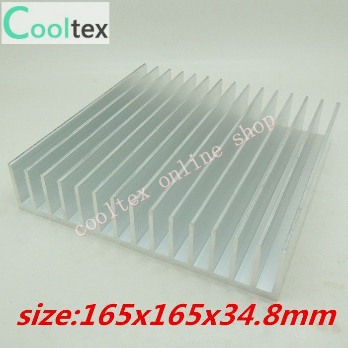 165x165x34.8mm Aluminum radiator High power HeatSink for electronic Chip CPU GPU VGA RAM LED IC Heat Sink COOLER cooling 50pcs lot aluminum heatsink 8 8x8 8x5mm electronic chip cooling radiator cooler for cpu ram gpu a4988 chipset heat sink