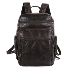 100% echtem Rindsleder Mode Lptop Rucksäcke Reisetaschen 7202J