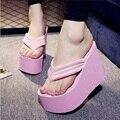 Женщины Сандалии 2016 Мода Женщина Летние Обувь Сандалии Женский Пляж Клинья Туфли На Высоком Каблуке Сандалии