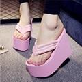 Sandalias de las mujeres 2016 Mujer de Moda de Verano Zapatos de Las Sandalias de Playa Zapatos de Las Cuñas de Tacón Alto Sandalias de Los Zapatos