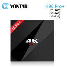 10 unids VONTAR 3G/32G H96 Pro + Amlogic S912 Octa Core Android 7.1 turrón TV Box 2.4G/5.8G WiFi BT4.1 4 K 1000 M Lan H96 Pro Plus