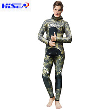 HISEA 3.5mm Japan Yamamoto Hooded Diving Suit Wetsuit for Adult Underwater Cave Scuba Free Wetsuits Spearfishing F