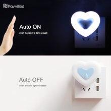 Hi-Flux Motion Sensor Dimmable LED Bedside Night Light with 2A USB Mobile Phone Charger Wall Socket EU/US Plug AC 110-220V