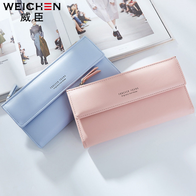 Free shipping 2017 new fashion women wallets brand long wallet Korea style PU leather solid color high quality change purse 2017 brand new cute bowknot purse handbag for women pu leather fashionable wallet zipper high quality free shipping p375