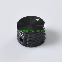 2pcs Black Aluminum Potentiometer Control Volume Knobs 25x15.5mm Guitar Amp Part