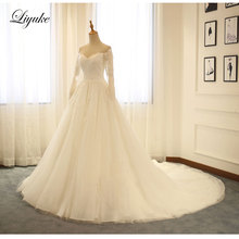 Liyuke Elegant Ball Gown Wedding Dress With Long Sleeves