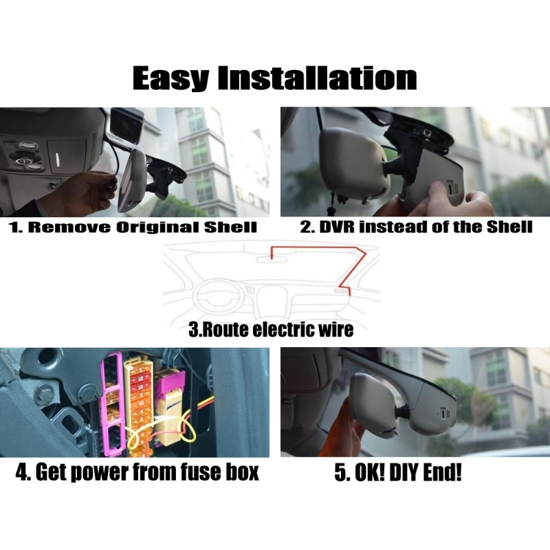 NOVOVISU Car Black Box WiFi DVR Dash Camera Driving Video Recorder ...