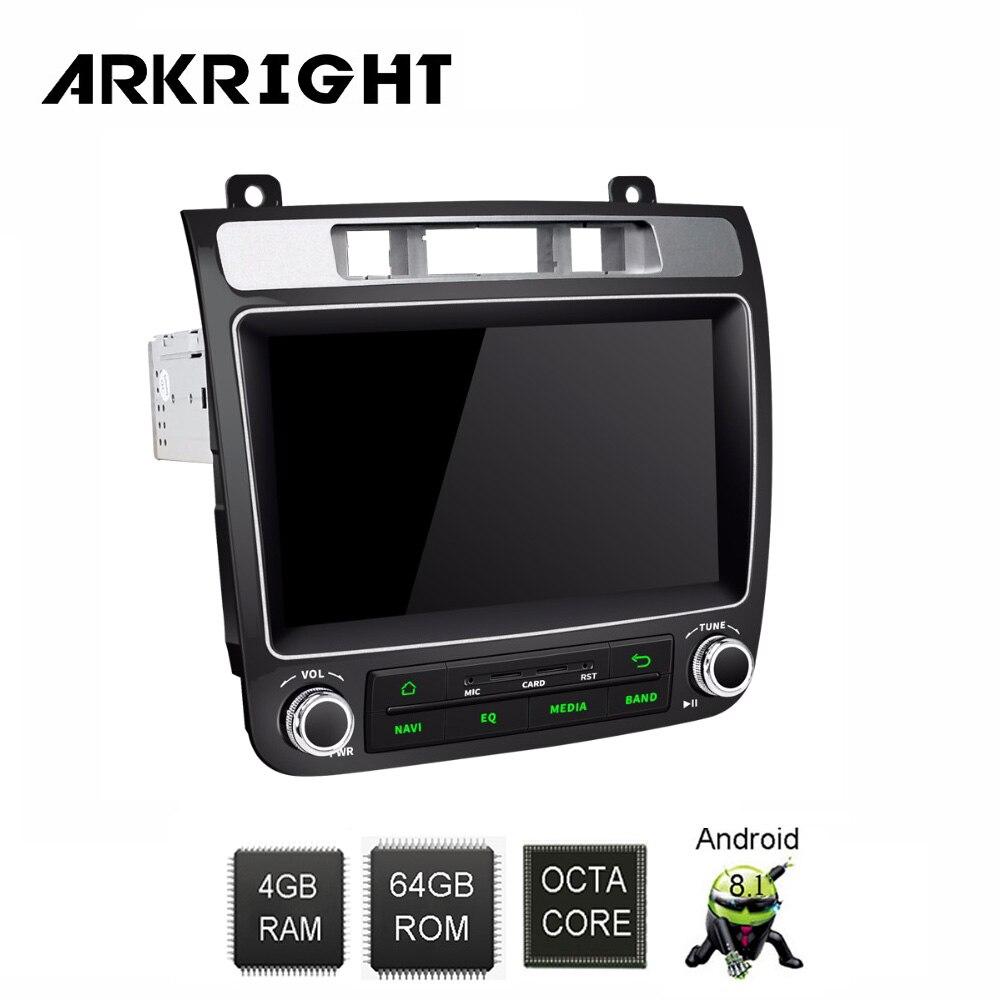 ARKRIGHT 8 ''4 + 64 gb 1 din Android 8.1 autoradio/lecteur multimédia/DVD de voiture démarrage rapide/4G pour VW Volkswagen Touareg 2010-2017